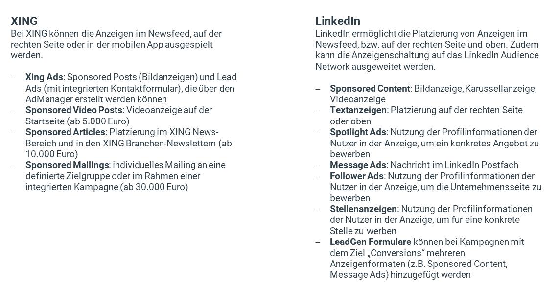 Xing vs LinkedIn