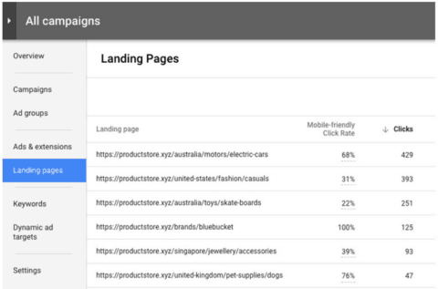 "Die neue Option ""Landing Pages"""
