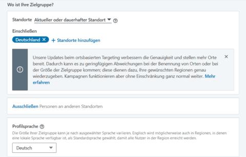Screenshot: LinkedIn Zielgruppe