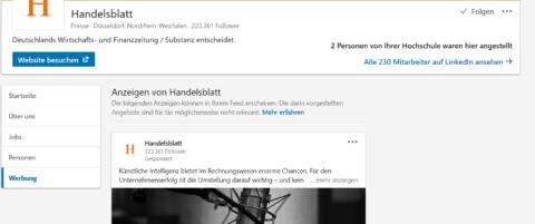 Screenshot: LinkedIn/Handelsblatt